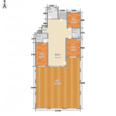 米拉小筑3室1厅2卫1厨235.37㎡户型图
