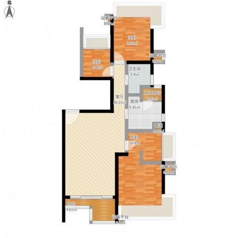 i都会3室1厅1卫1厨113.00㎡户型图