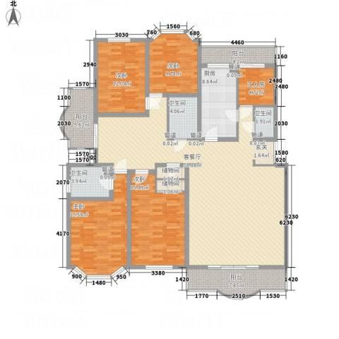 西安锦园4室1厅3卫1厨222.00㎡户型图