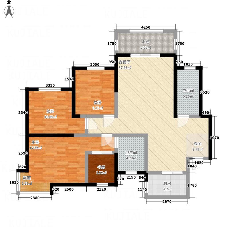 民基新城A户型4室2厅2卫1厨