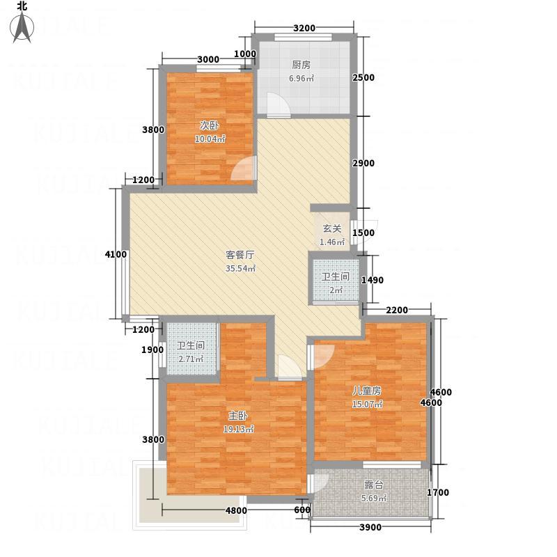 水木清华123.26㎡a7a8-a户型3室2厅2卫