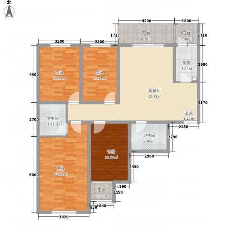 天馨逸家4室1厅2卫1厨167.00㎡户型图