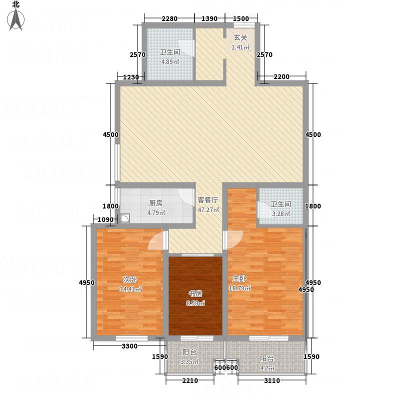 天馨逸家157.68㎡B2户型3室2厅2卫