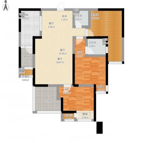 常州红星国际广场2室1厅2卫1厨128.00㎡户型图
