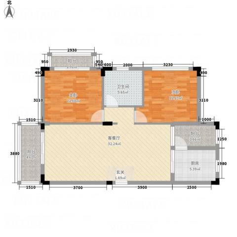 幸福里2室1厅1卫1厨78.27㎡户型图