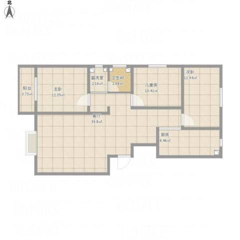 逸升佳苑3室2厅1卫1厨129.00㎡户型图