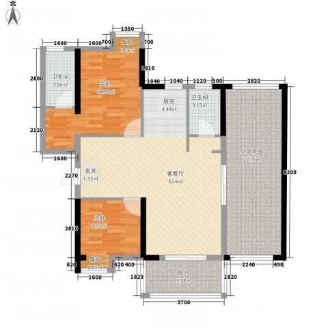 海滨大厦2室1厅2卫0厨90.18㎡户型图