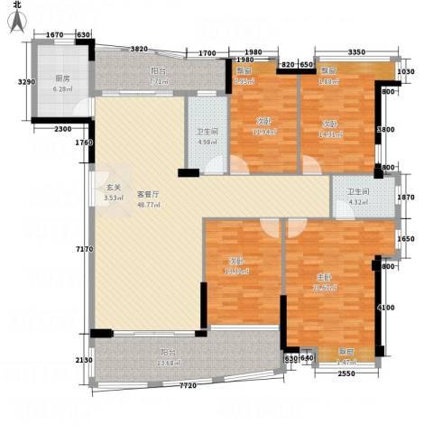 富逸上苑4室1厅2卫1厨173.00㎡户型图