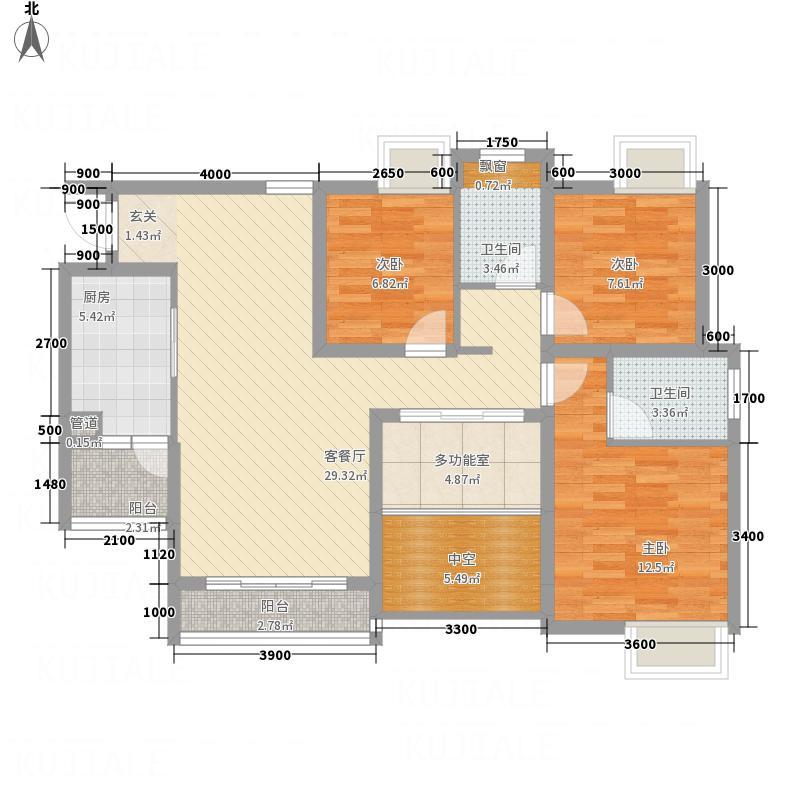 金利多・蔚蓝阳光411.62㎡4#、5#C4户型3室2厅2卫1厨