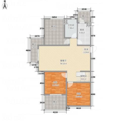 百大春城2室1厅1卫1厨217.00㎡户型图