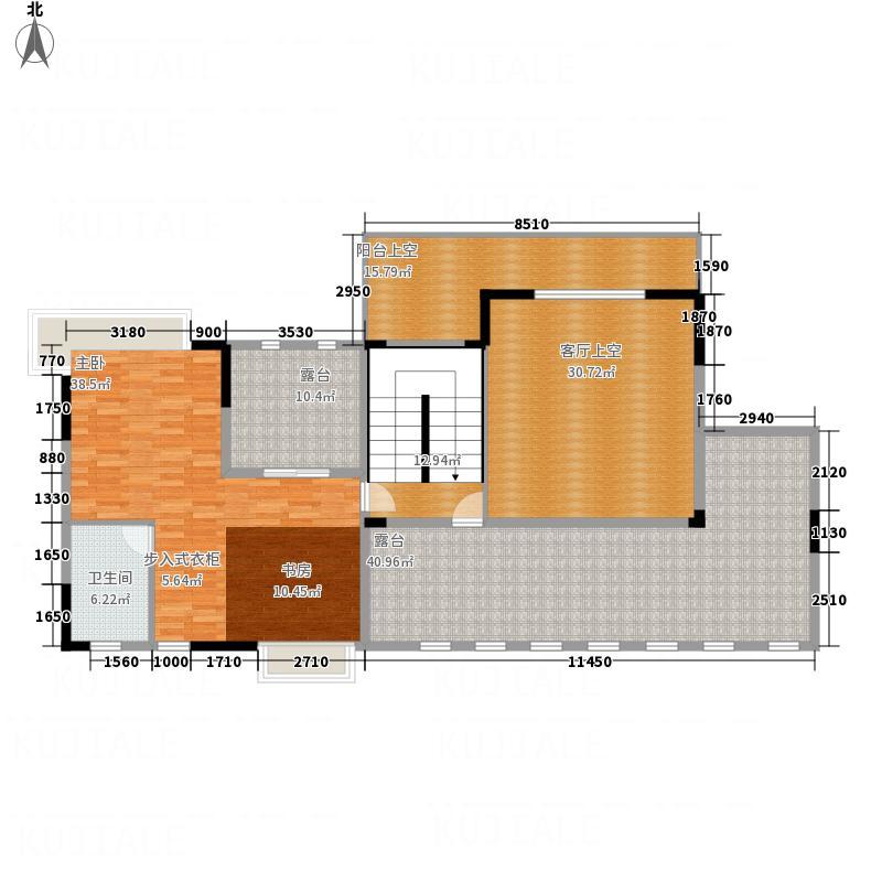 裕丰英伦251.00㎡二期1#楼18-19层I复式上层户型5室2厅3卫1厨