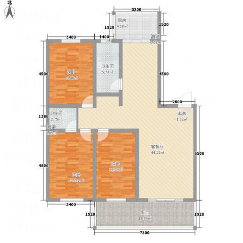 华润嘉园小区3室1厅2卫1厨158.00㎡户型图