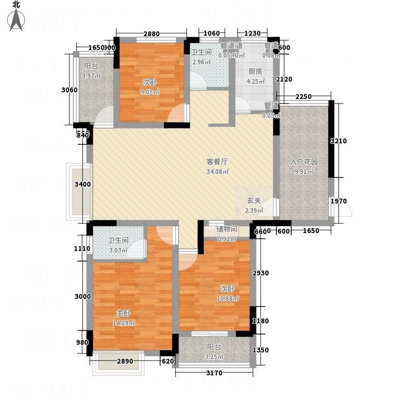 御花园141.52㎡A1户型3室2厅2卫1厨