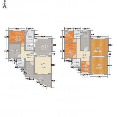 福隆东方丽景4室1厅4卫1厨175.00㎡户型图