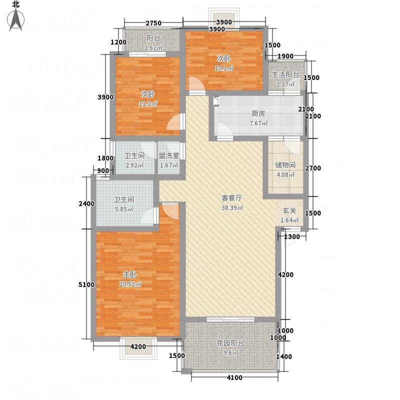 天地晨光丽景137.00㎡D型户型3室2厅2卫1厨