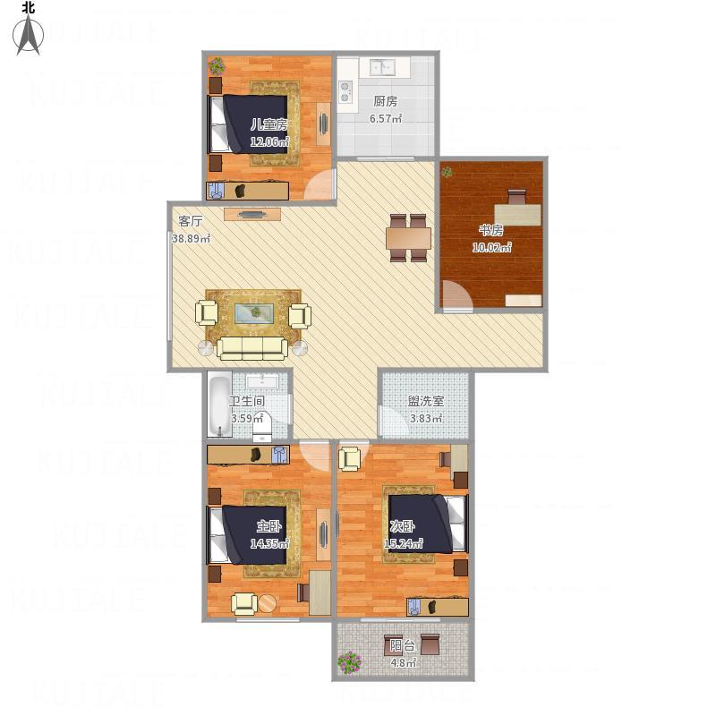 和平国际140方三室两厅