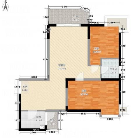 丽都大厦2室1厅1卫1厨114.00㎡户型图