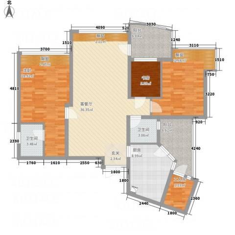 天域三期3室1厅2卫1厨151.00㎡户型图