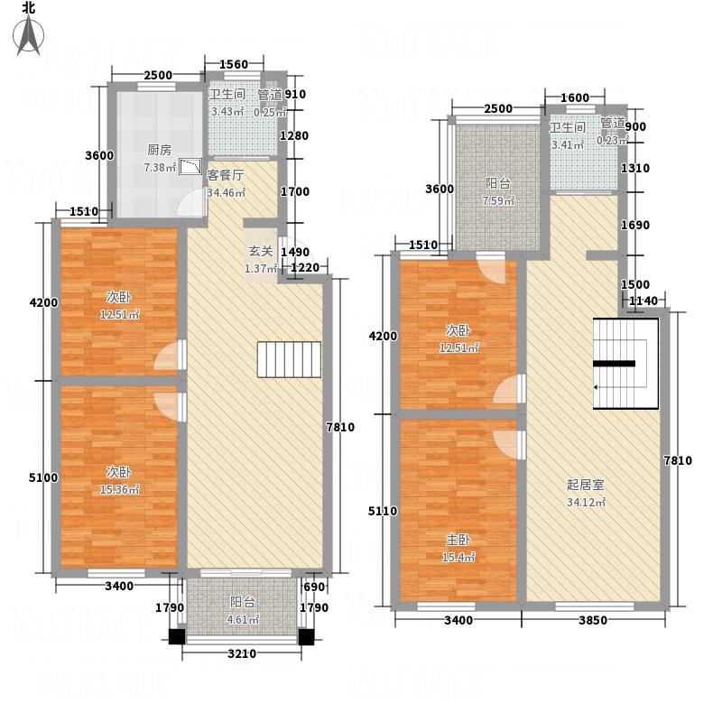 太湖惠泉花园二期175.00㎡A复式户型4室2厅2卫1厨