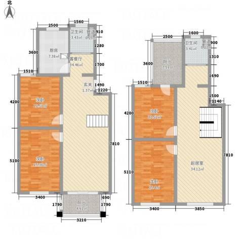 太湖惠泉花园二期4室1厅2卫1厨175.00㎡户型图