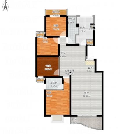 颐美园4室1厅3卫1厨142.00㎡户型图