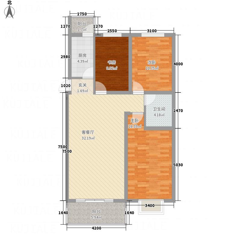 玉河湾116.20㎡210C户型3室2厅1卫1厨
