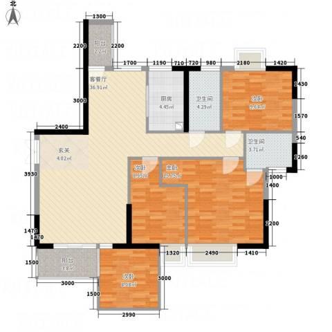 光耀荷兰堡4室1厅2卫1厨98.01㎡户型图
