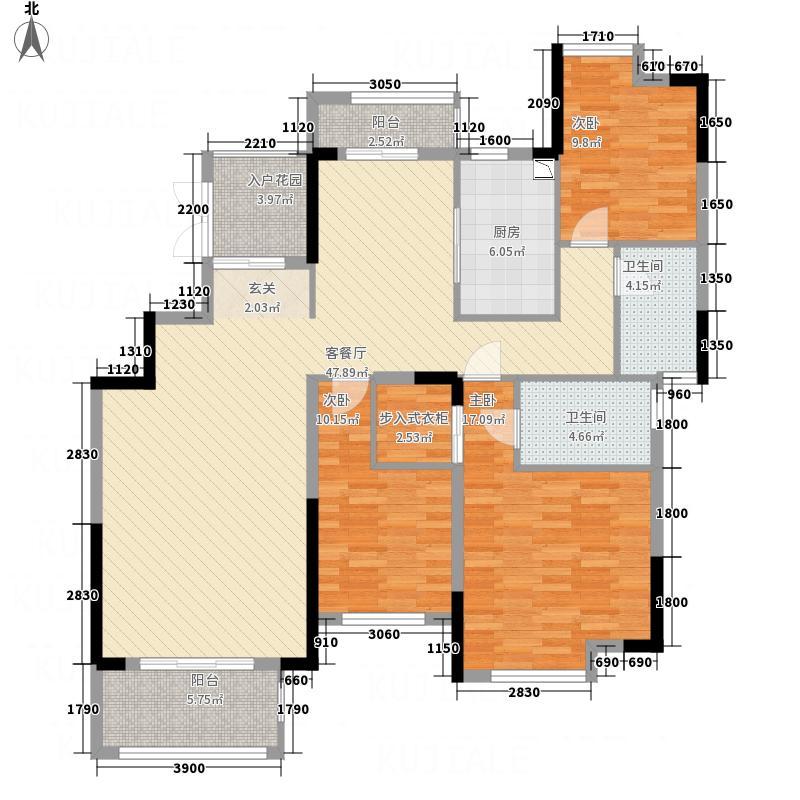 南方梅园2期山湖名都A户型3室2厅2卫1厨