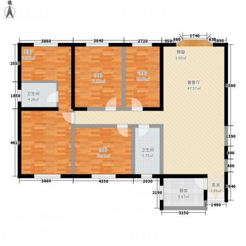 楚天阁4室1厅2卫1厨180.00㎡户型图