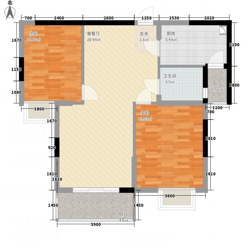 F空港中心城8.60㎡h7户型2室2厅1卫1厨