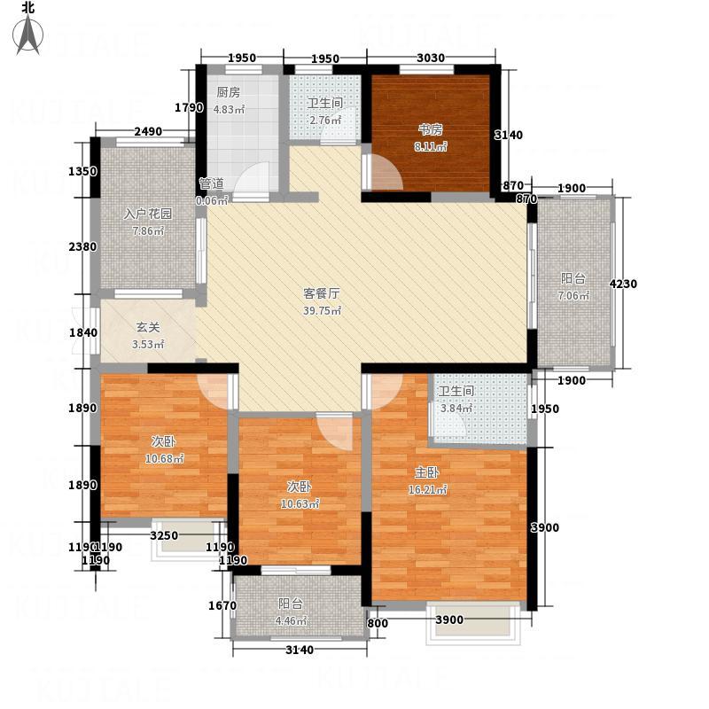 滨湖和园户型4室
