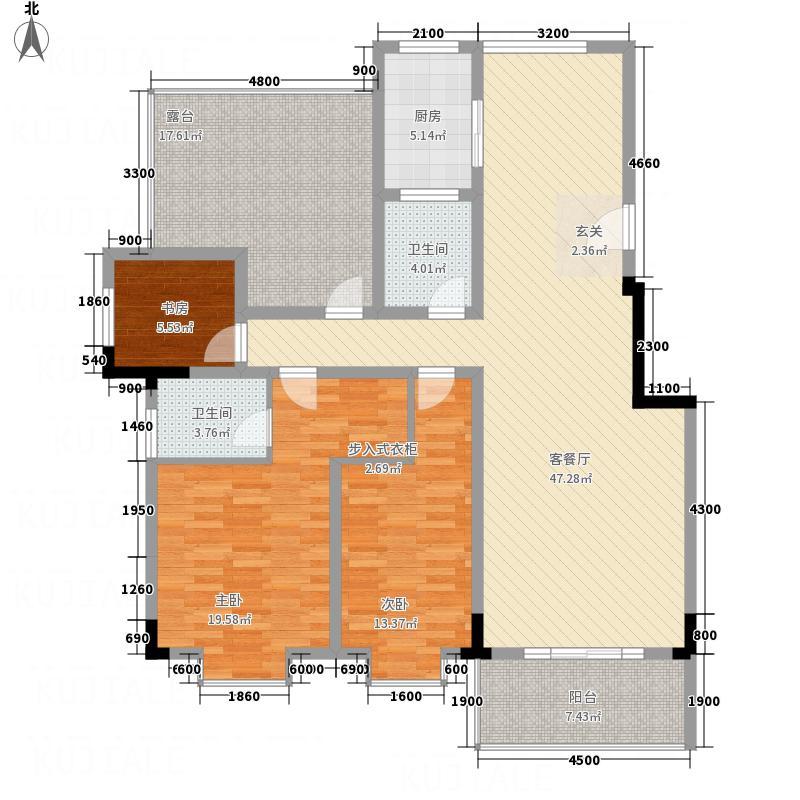 南阳东�4#户型3室2厅2卫1厨