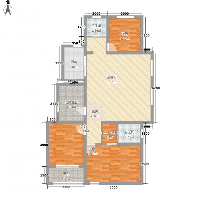 锦厦绿园广场12.40㎡1号楼住宅-B户型3室2厅2卫