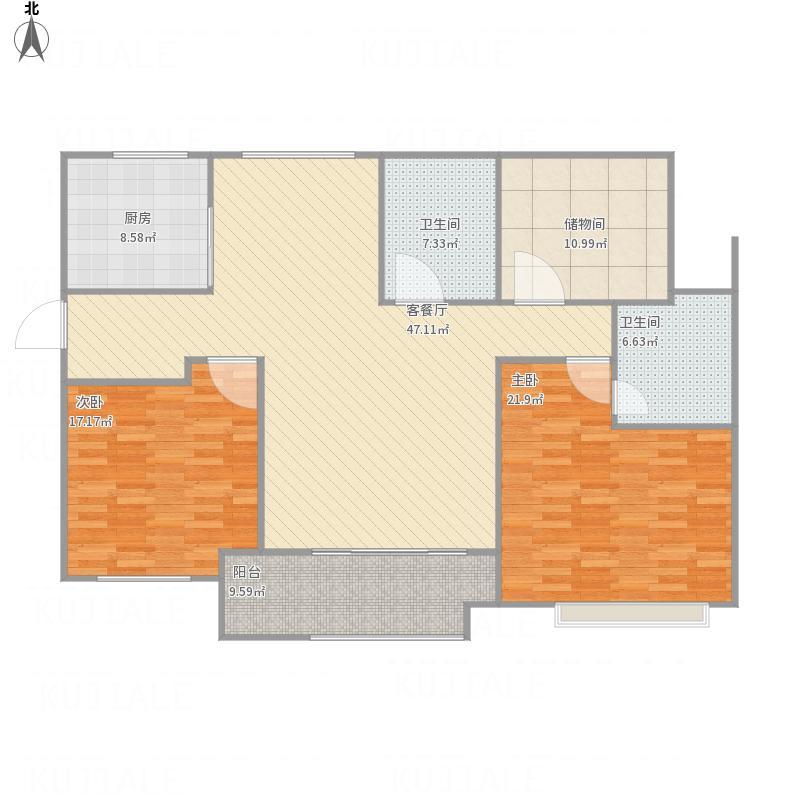 3室2厅2卫1厨  建筑面积:110㎡