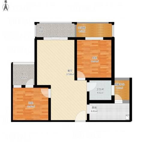 常熟中关村科技城2室1厅1卫1厨111.00㎡户型图
