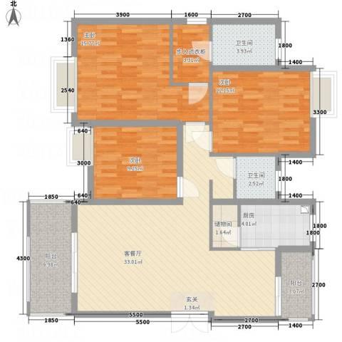山海天3室1厅2卫1厨23119.00㎡户型图