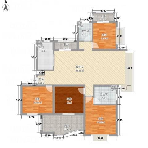 高尔夫国际花园4室1厅2卫1厨151.00㎡户型图
