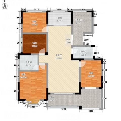 国光山水间4室1厅2卫1厨134.00㎡户型图