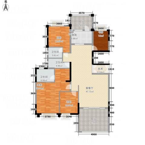 华英城三期4室1厅3卫1厨154.90㎡户型图