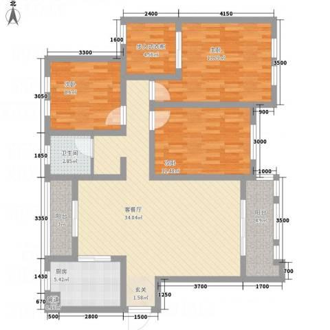 兴卫山庄3室1厅1卫1厨130.00㎡户型图