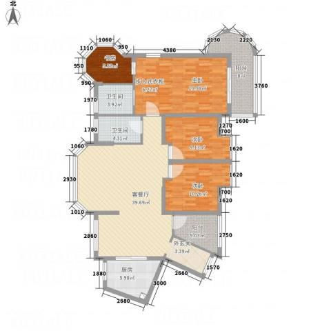东湖品臻4室1厅2卫1厨4145.00㎡户型图