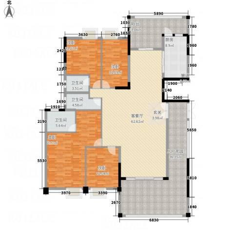华英城三期4室1厅3卫1厨200.33㎡户型图