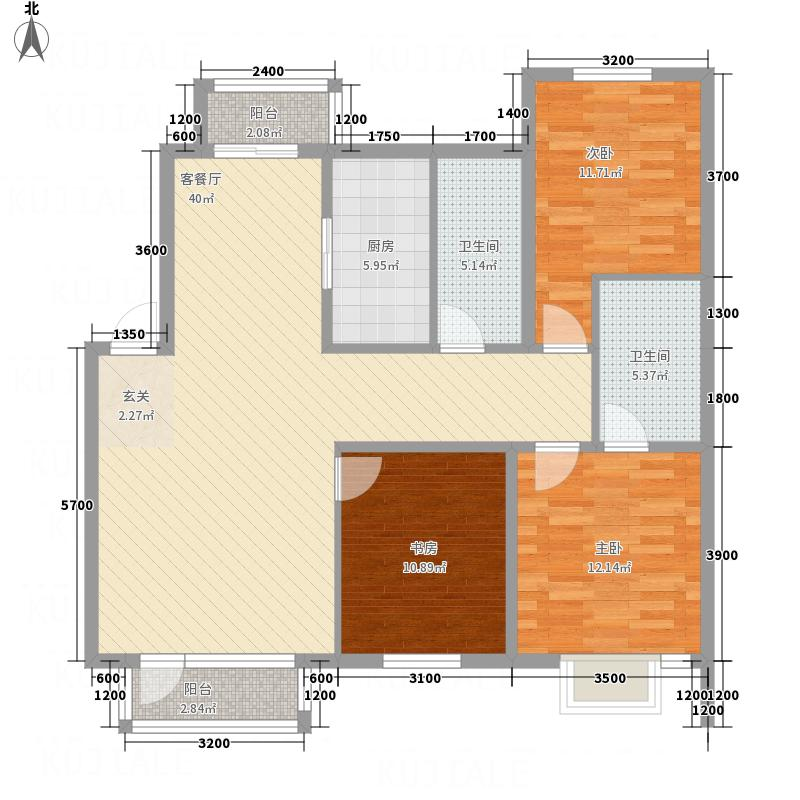 宏运凤凰新城一期123.60㎡1236户型3室2厅2卫1厨