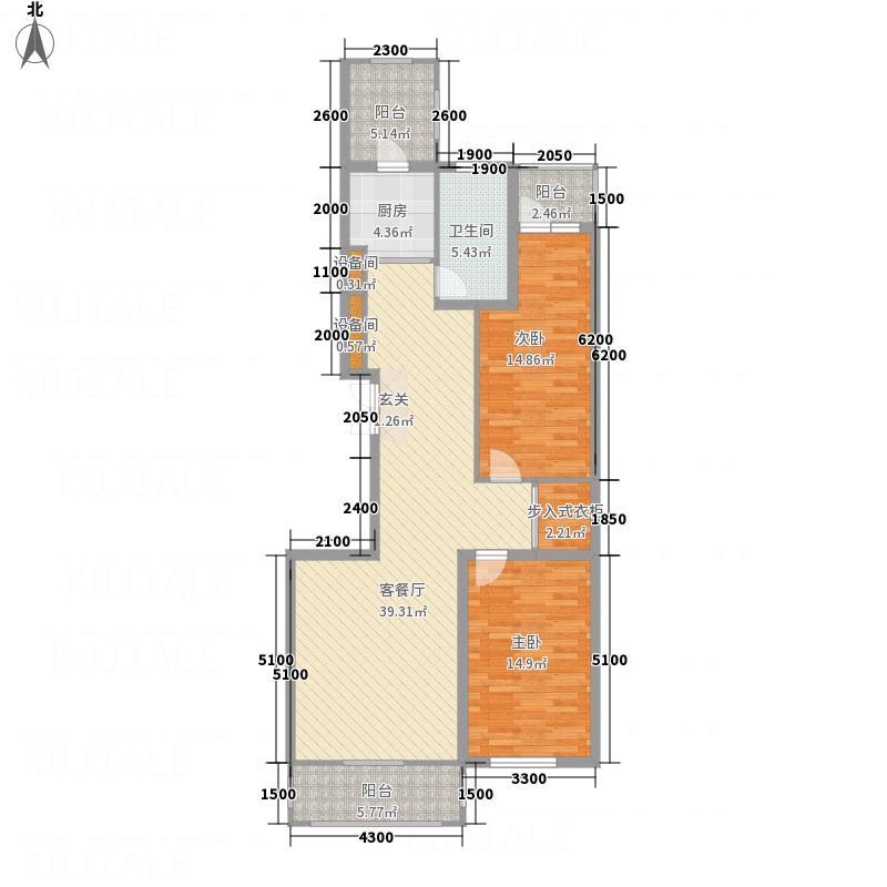 林江名城二期12.00㎡B户型2室2厅1卫
