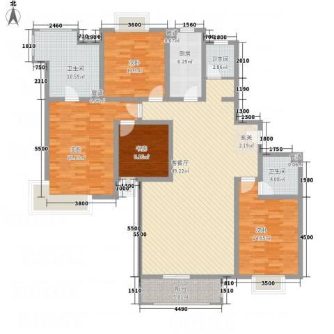 芳菲苑4室1厅3卫1厨191.00㎡户型图