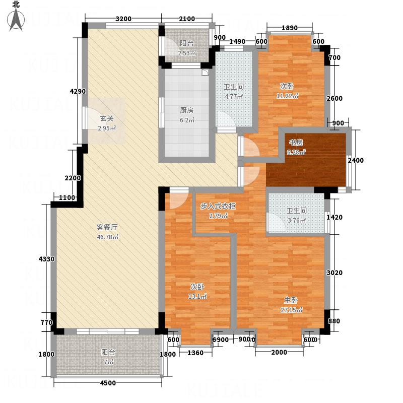 南阳东�3#户型4室2厅2卫1厨