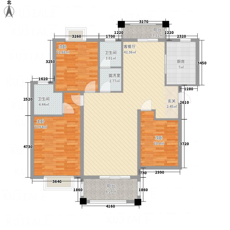东安明珠2.20㎡BN-2户型3室2厅2卫1厨