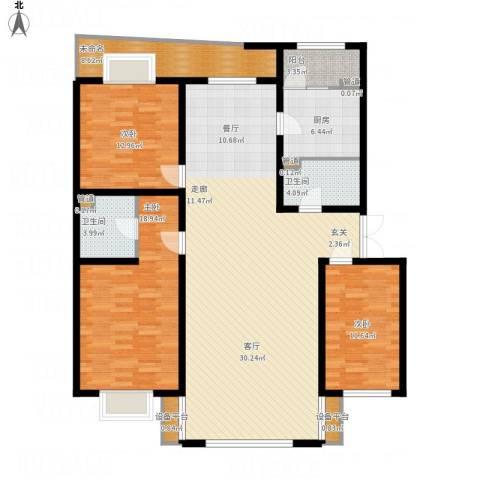 银亿阳光城3室1厅2卫1厨179.00㎡户型图