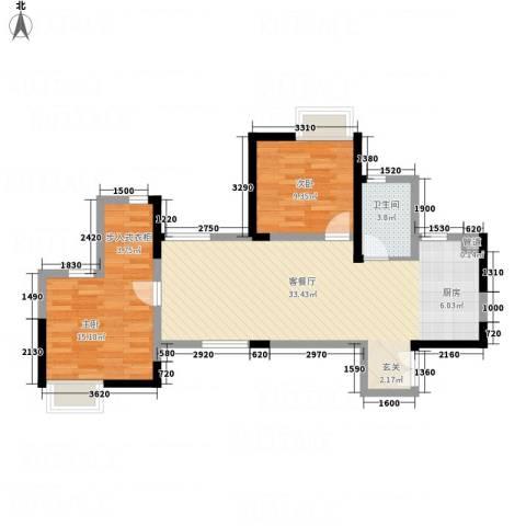 云立方2室1厅1卫0厨88.00㎡户型图