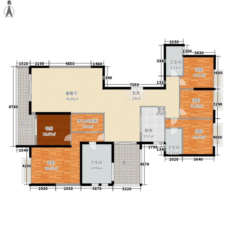 祥隆花园431268.19㎡4#3单元01号房5室户型5室2厅3卫1厨